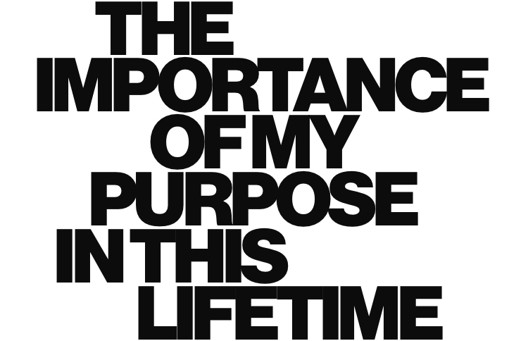 The importance of my purpose in this lifetime