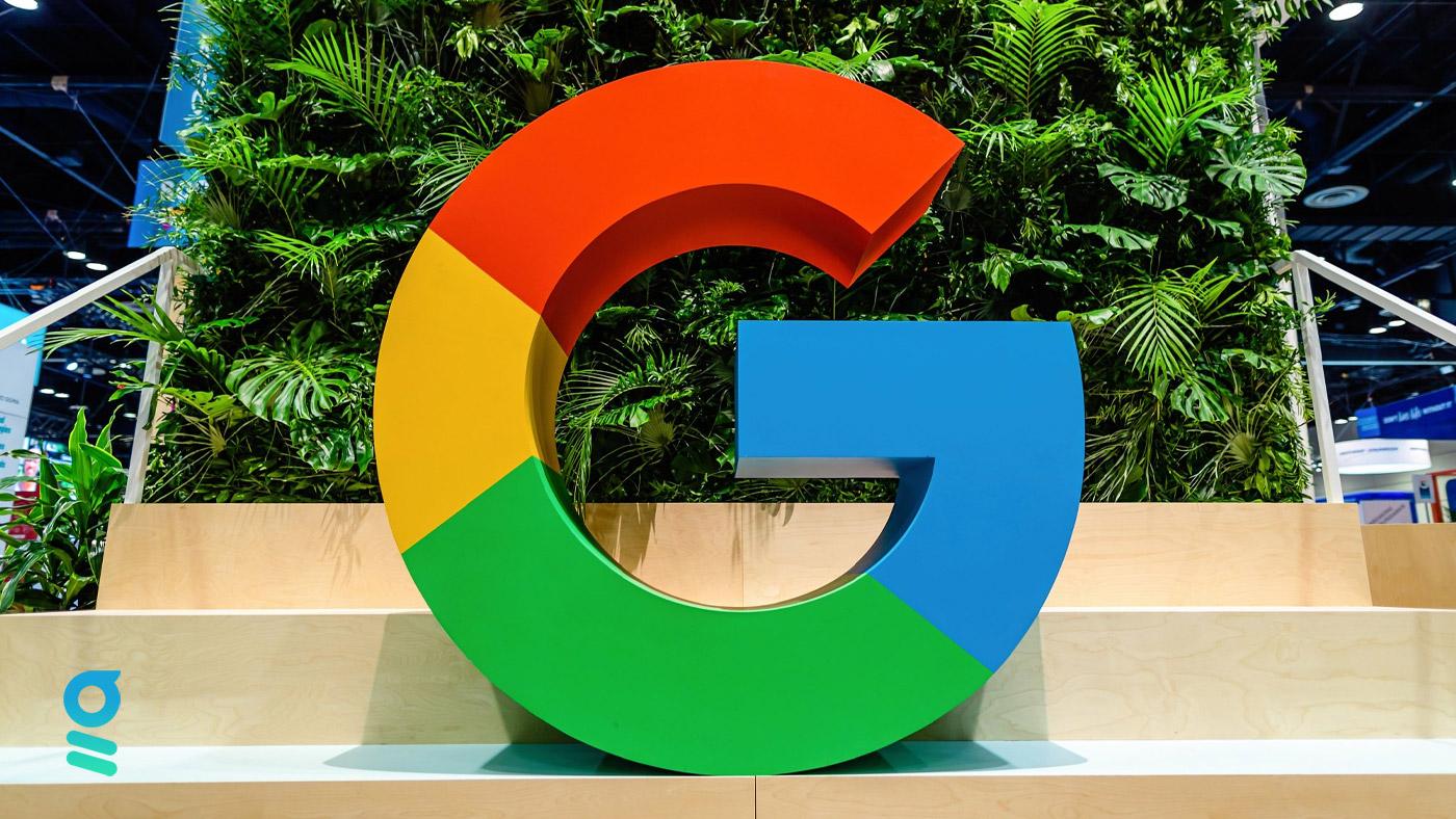 logo google sur fond vert
