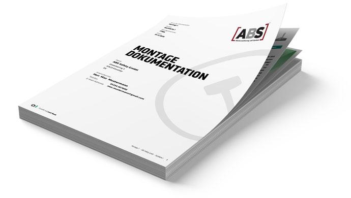 Beispiel einer fertigen Montagedokumentation als gedruckte Version