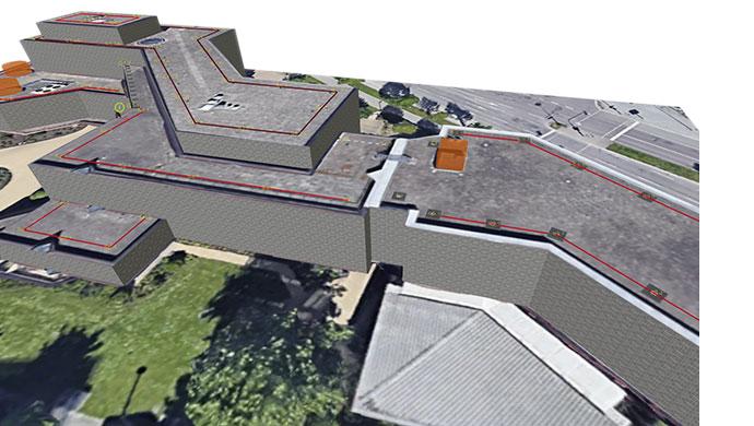 Screenshot einer mit Lock Book Draw erstellten Planungsskizze als 3D-Ansicht