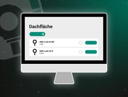Grafische Darstellung eines Monitors. Der Bildschirm zeigt das neue Lock Book Docu.