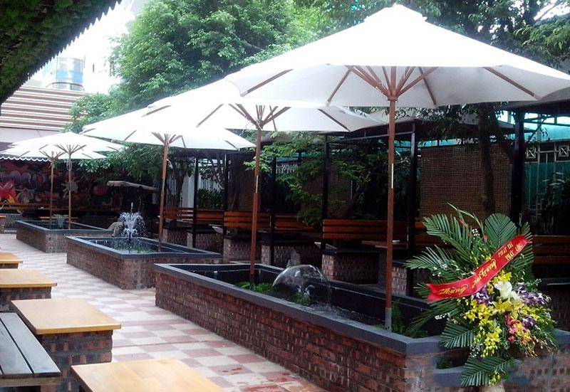 Mẫu Ô Dù Che Nắng Mưa Ngoài Trời - Dù Che Quán Cafe Long An Bến Lức Đẹp