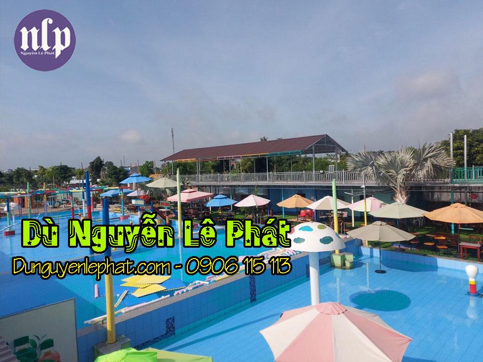 Dù che nắng hồ bơi dù che khu giải trí tại Bình Phước