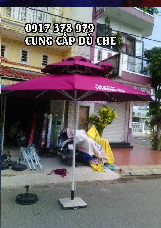 Đơn vị cơ sở bán dù che nắng quán cafe đứng tâm giá rẻ - Mẫu dù che nắng mưa đứng tâm - dù đứng tâm 2 tầng giá rẻ