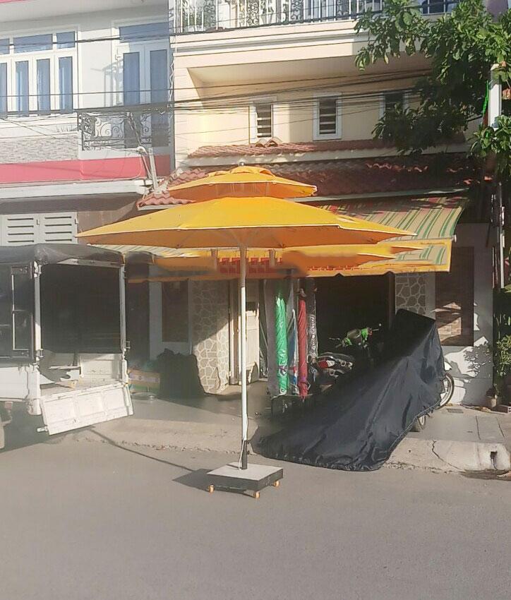 Đơn vị Cấp Ô Dù Che Nắng Mưa Quán Cafe giá rẻ tại Quận 9 Huyện Cần Giờ, Dù Đứng Tâm 2 Tầng