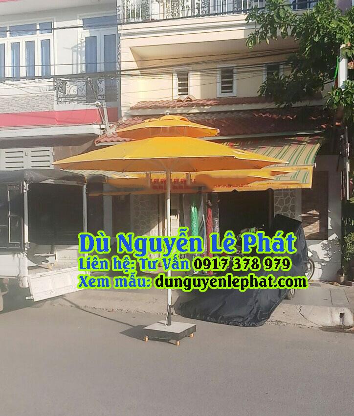 Dù Đứng Tâm Tròn 2 Tầng che nắng mưa quán cafe, bán hàng giá rẻ đẹp sang trọng