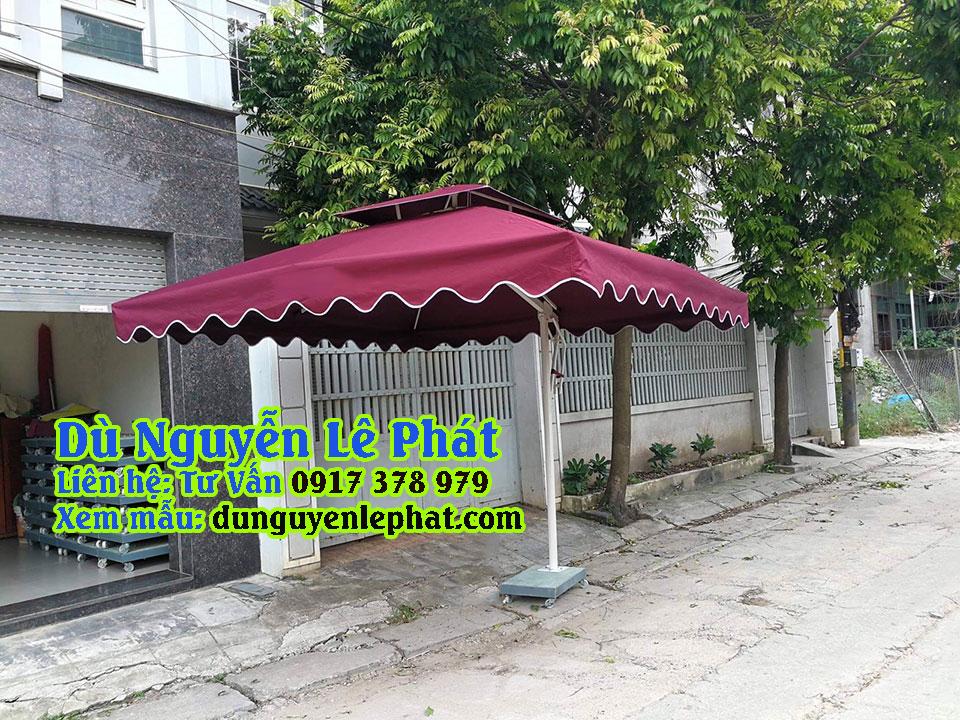 Dù lệch tâm vuông giá rẻ che nắng mưa quán cafe đẹp bền sang trọng - Dù Nguyễn Lê Phát