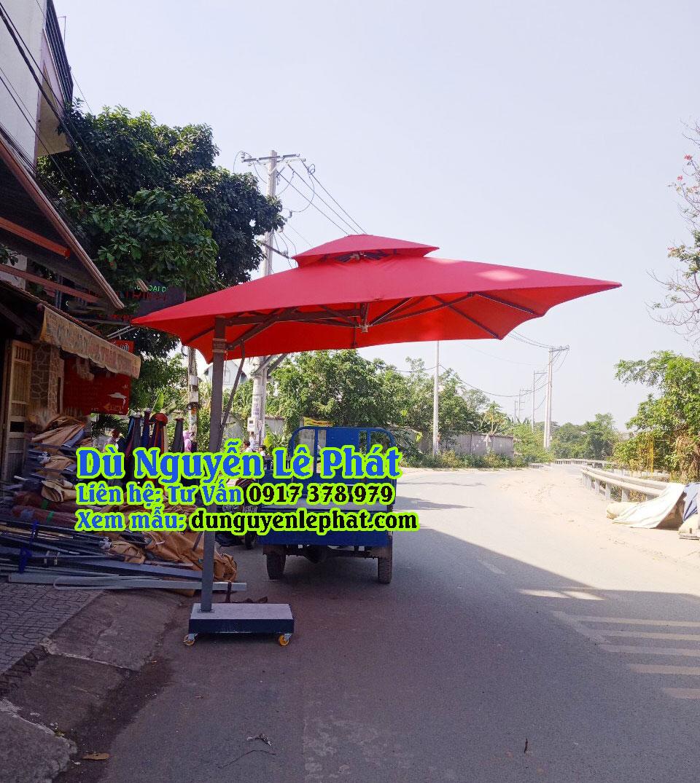 Dù lệch tâm tròn giá rẻ che nắng mưa quán cafe đẹp bền sang trọng - Dù Nguyễn Lê Phát