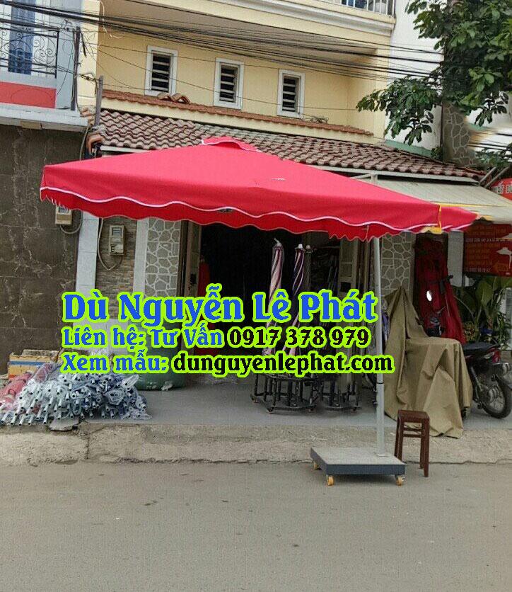 Bán Ô Dù Lệch Tâm Vuông Giá Rẻ đẹp che nắng mưa quán cafe sang trọng - Dù Nguyễn Lê Phát