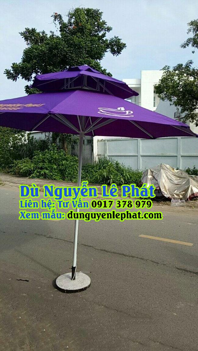 Dù đứng tâm tròn che quán cafe giá rẻ đẹp , mẫu mới bền tốt - Dù Nguyễn Lê Phát