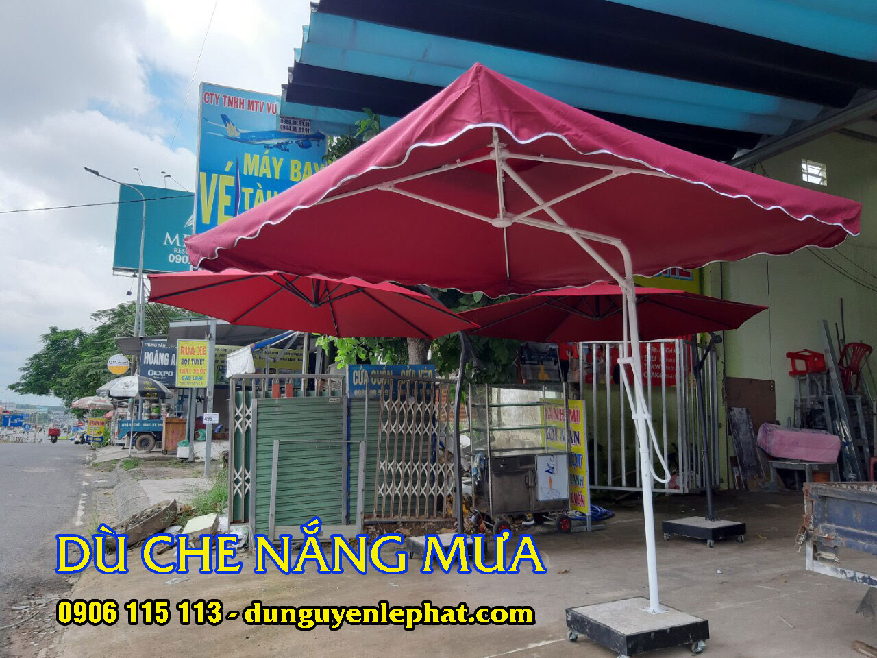 Bán Dù Che Nắng Bán Hàng Cafe tại Bạc Liêu, Dù Che Ngoài Trời Giá Rẻ Đồng Tháp