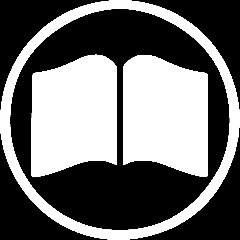 Icoon alle producten - wit silhouette van een boekje