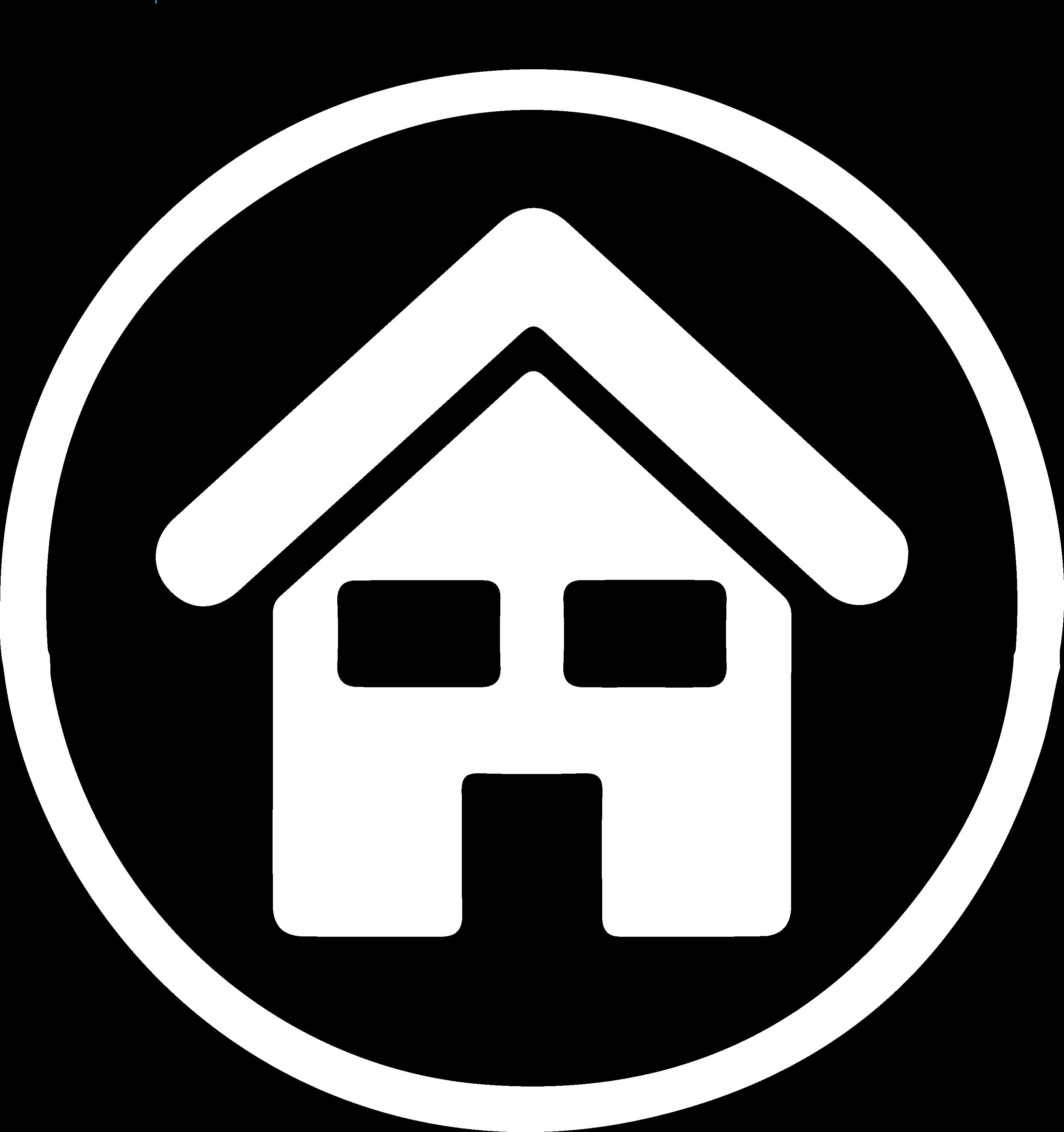 Icoon Huishoudproducten - wit silhouette van een huisje