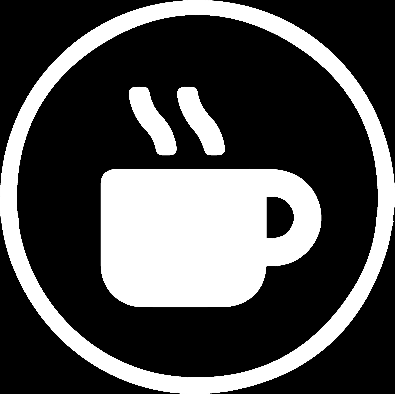 Icoon Koffieproducten - wit silhouette van een koffiemok