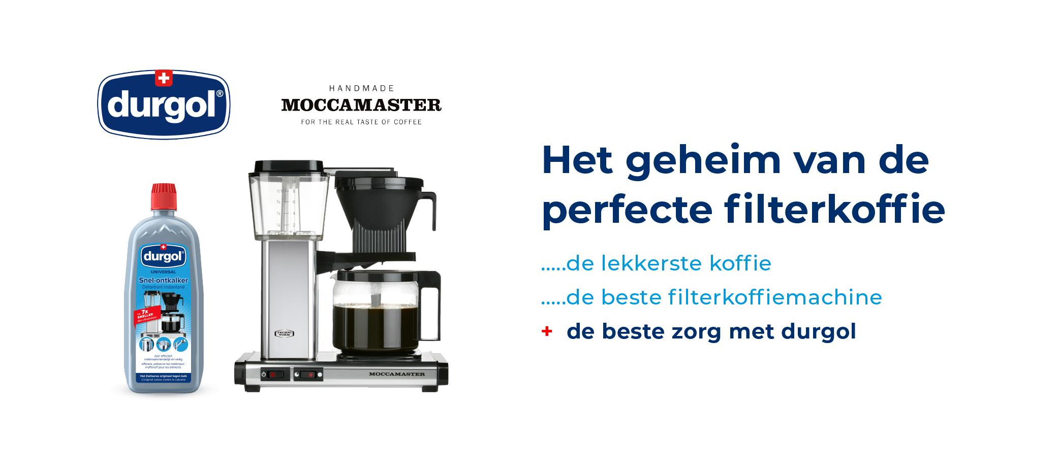Moccamster & durgol banner: Het geheim van de perfecte koffie...