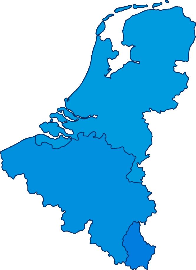 Een tekening van de Benelux