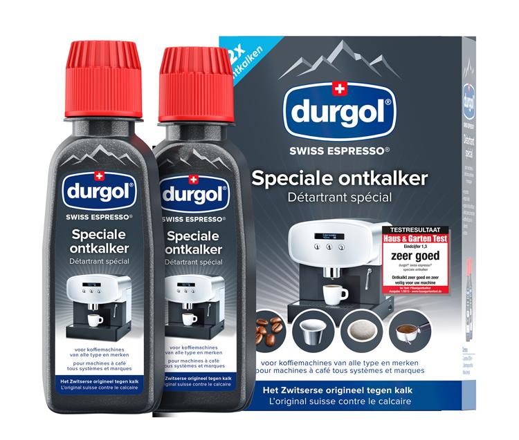 durgol swiss espresso 2x 125 ml flesjes met verpakking