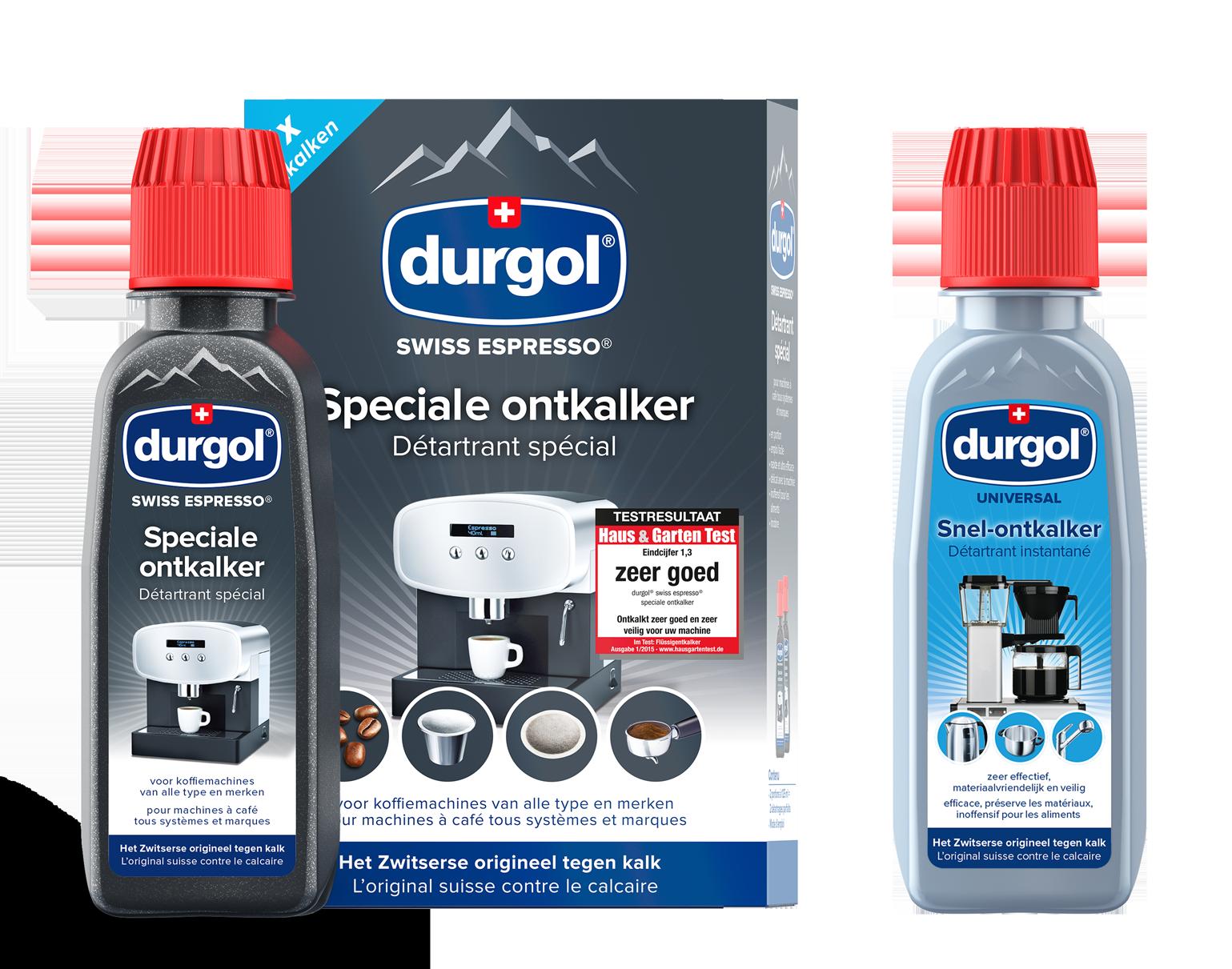durgol swiss espresso en durgol universal proefmonster flesjes
