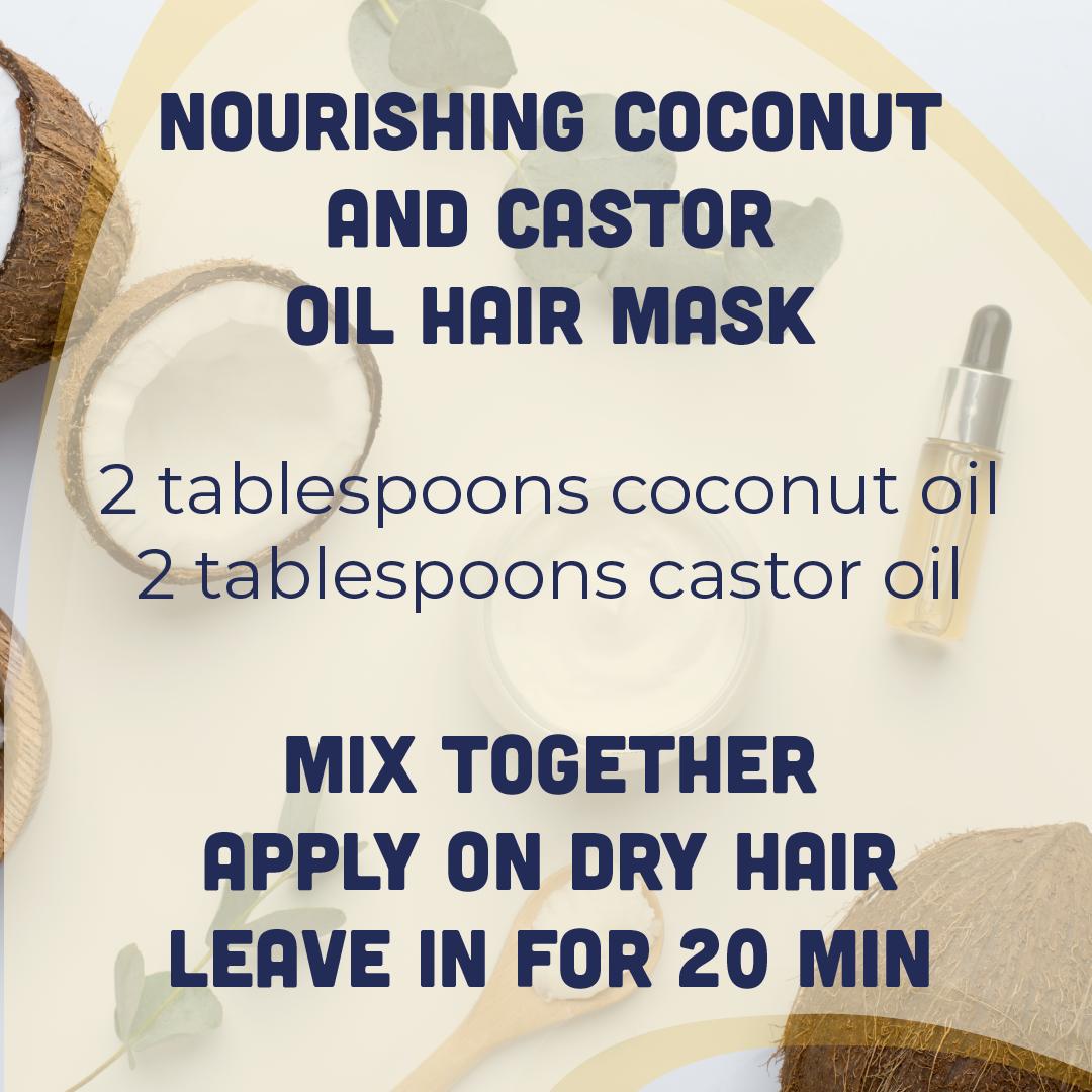 conconut castor oil hair mask recipe