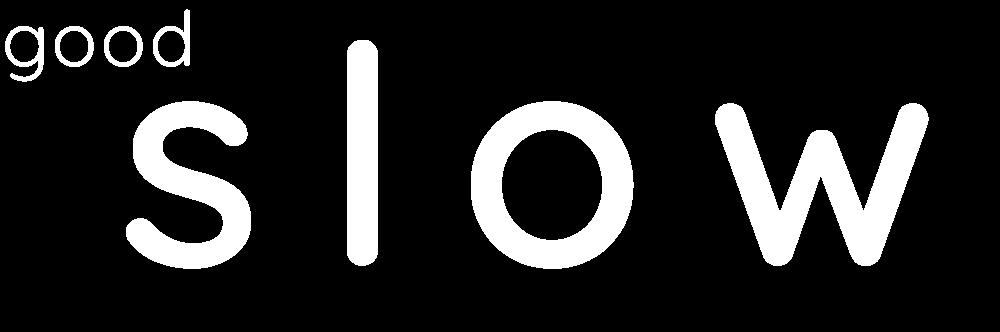 White goodSlow logo