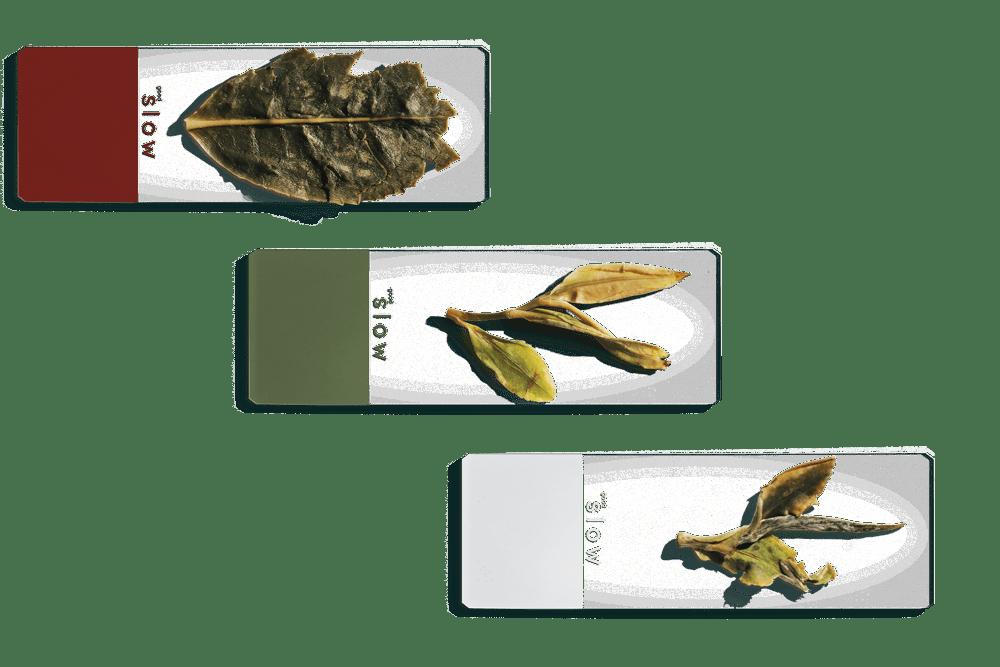 white tea, green tea, oolong tea