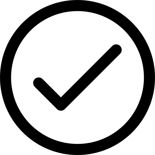 a icon of tick in circle