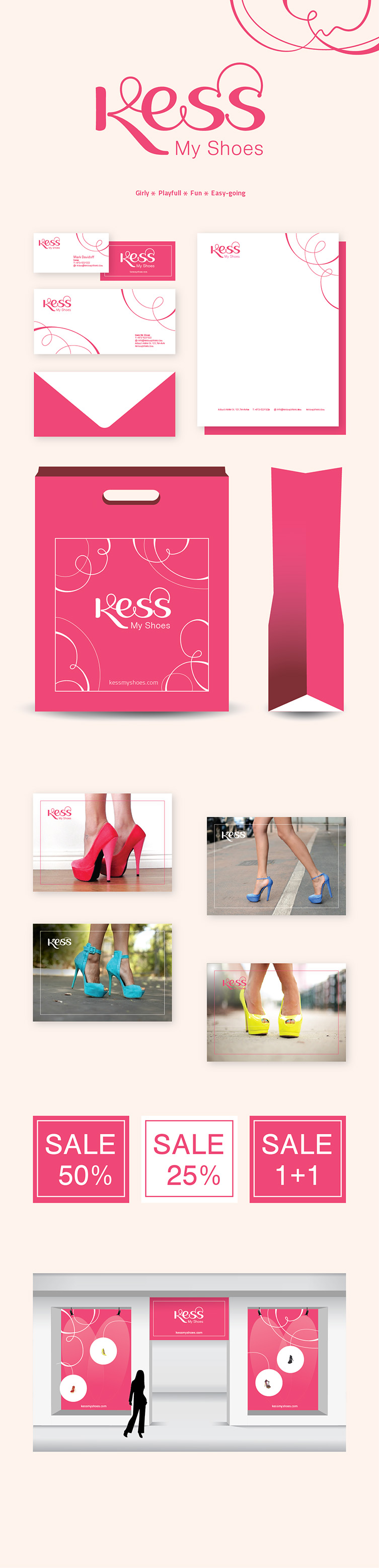 Kess shoes branding