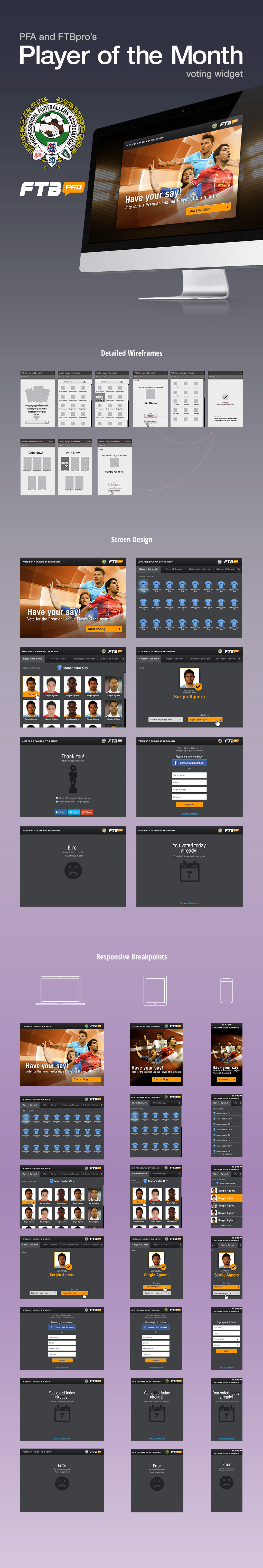 Player of the month FTBpro (90min) responsive voting widget.