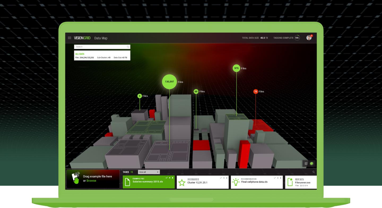 MinerEye Big data represented as a 3D model