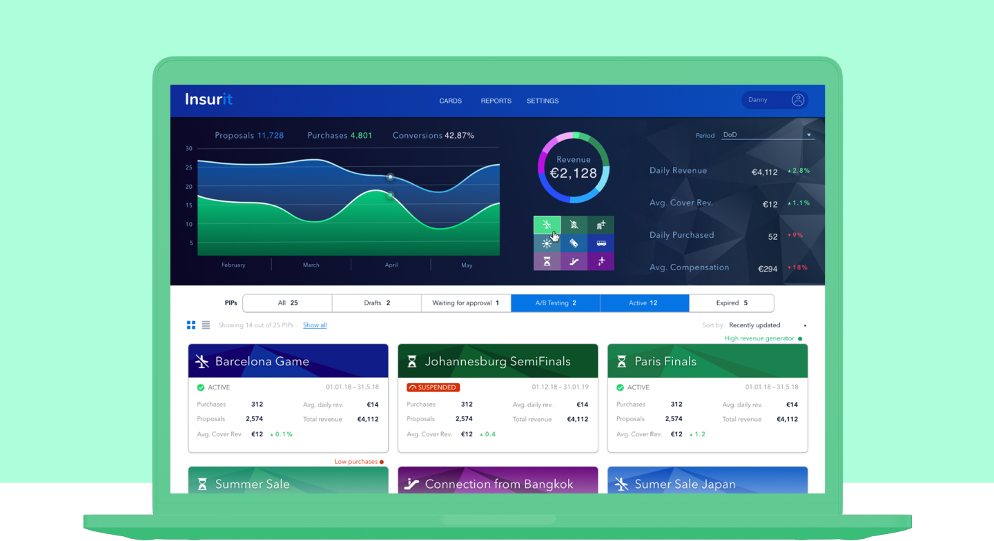 Insurit Main dashboard