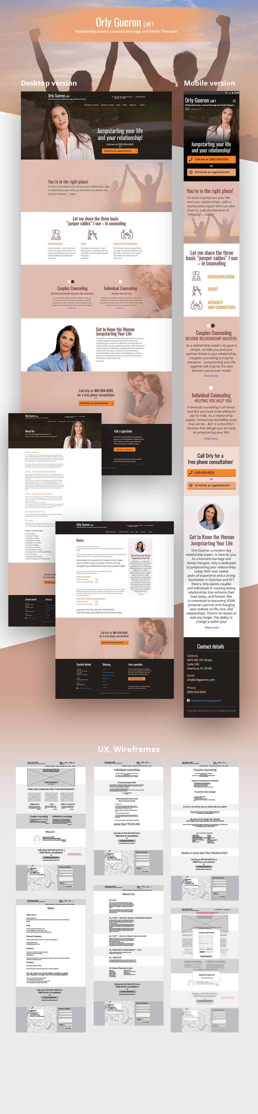 Orly Gueron Website design for a therapist