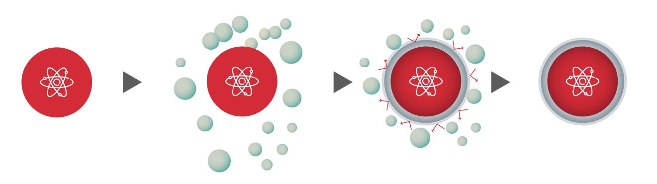 Gráfico de desparasitación de núcleo de bacteria.