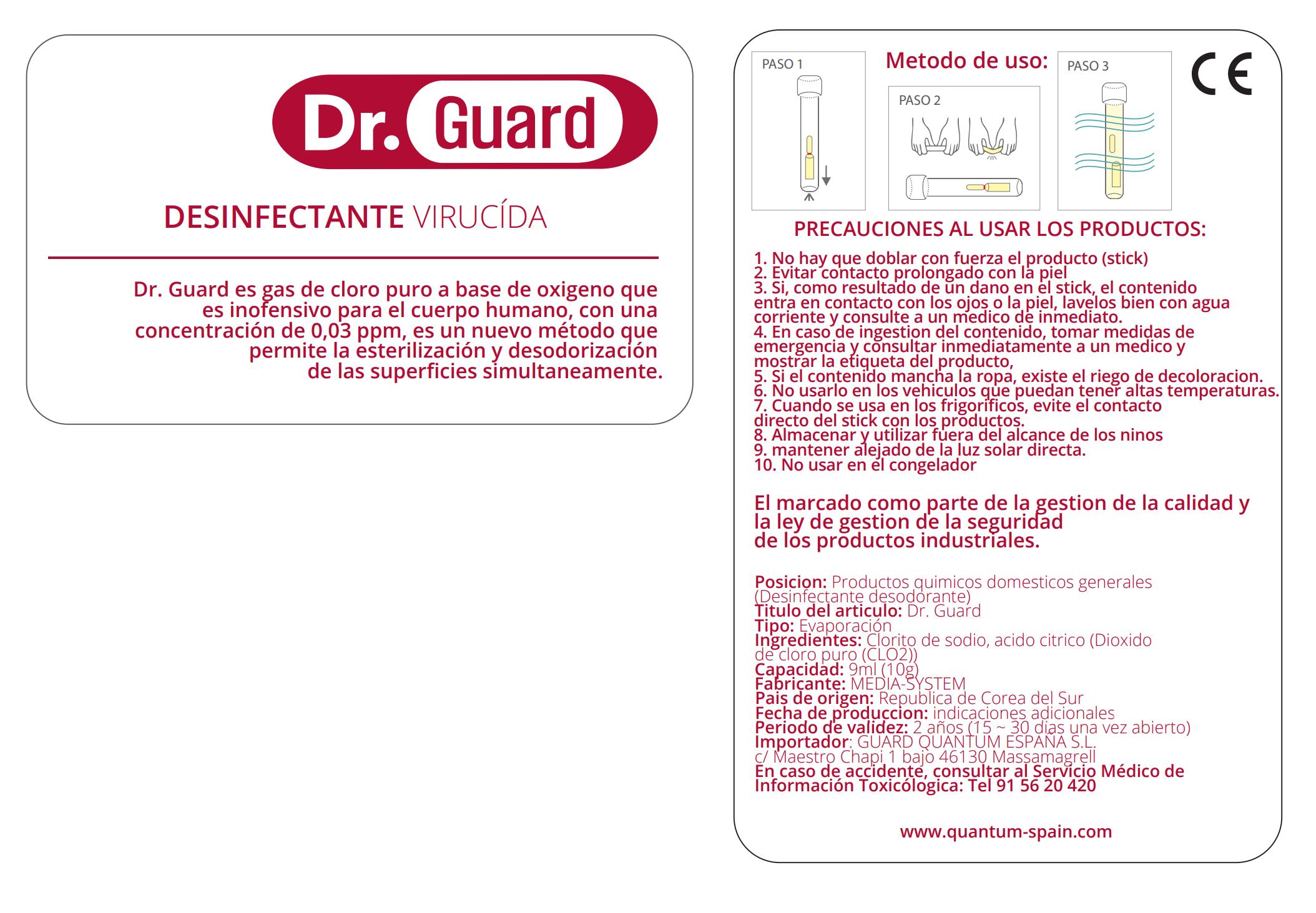 Descripción detallada de las prestaciones del dispositivo Doctor Guard