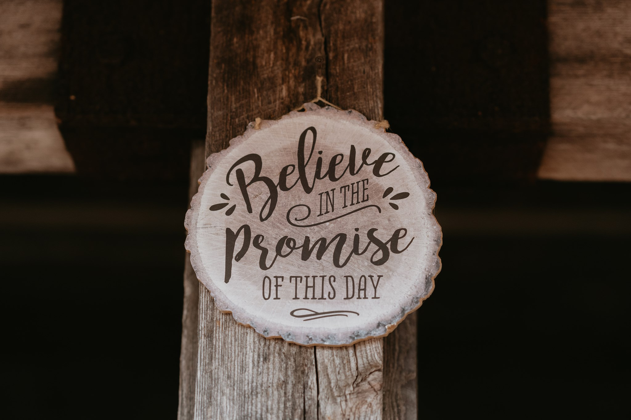 Wood Carving with Love Quote