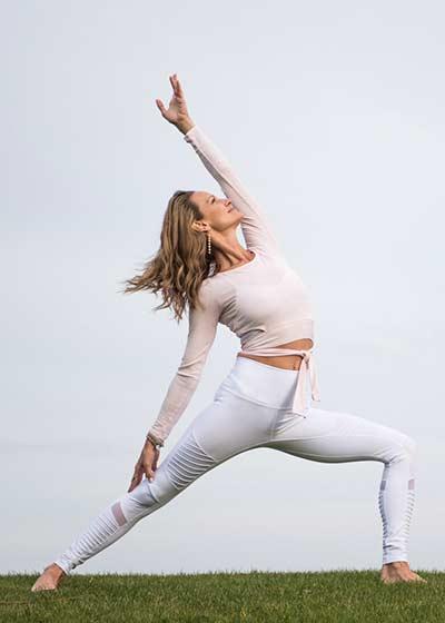 Sarah Finger online yoga class on WLTV