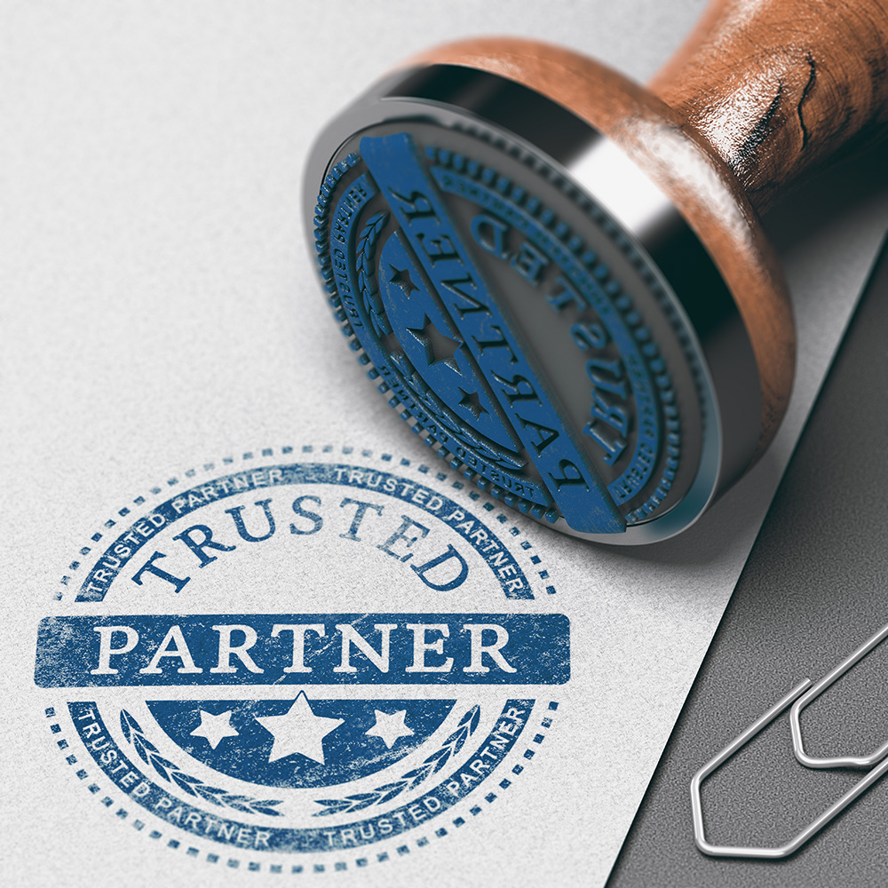 """Stamp of """"trusted partner'"""