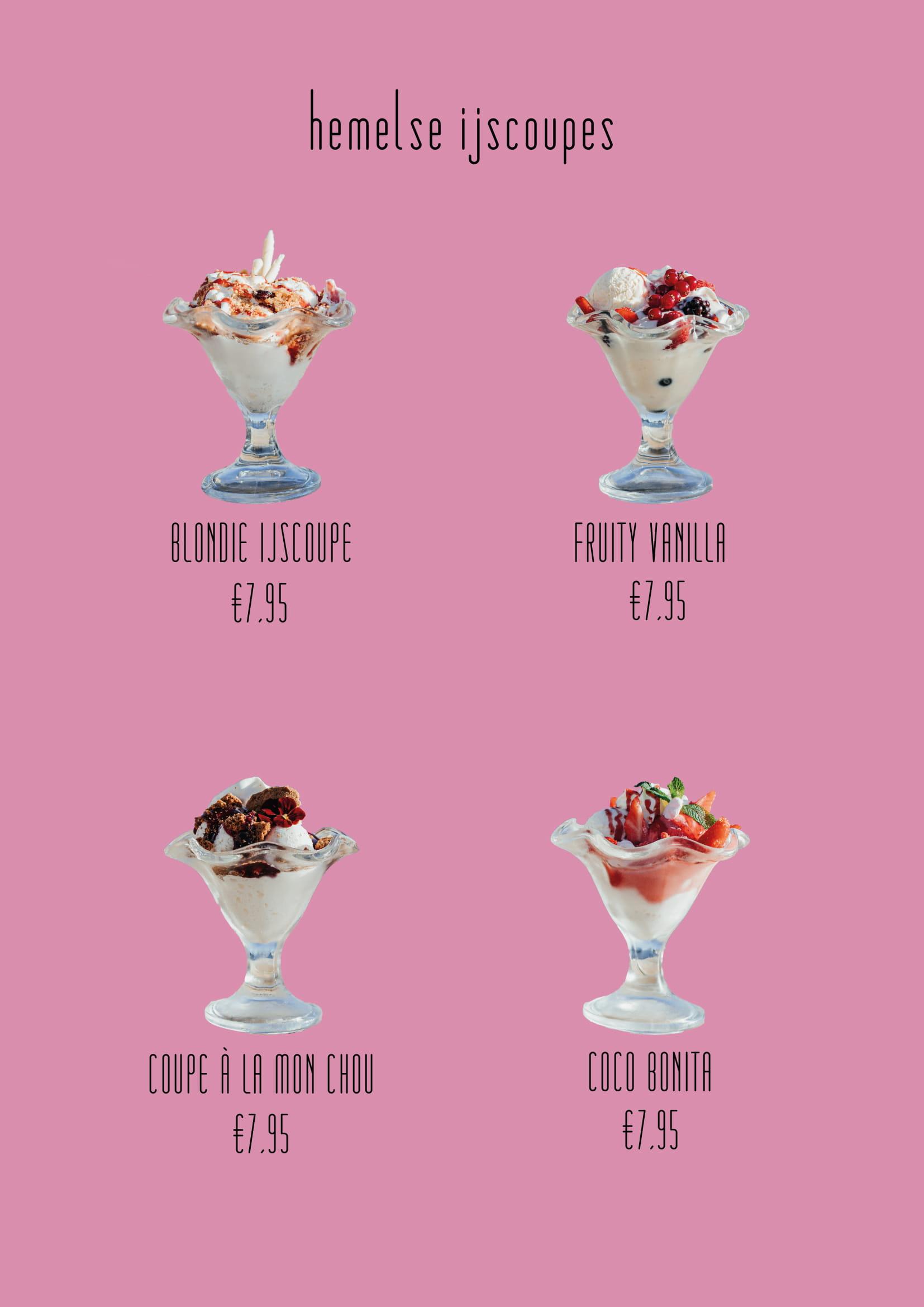 ijscoupes menu