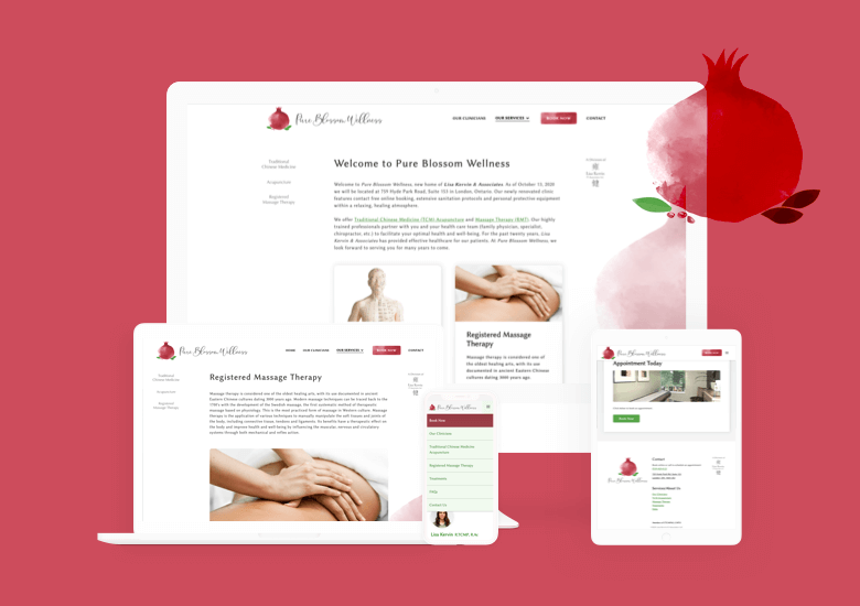 Pure Blossom Wellness Site Redesign