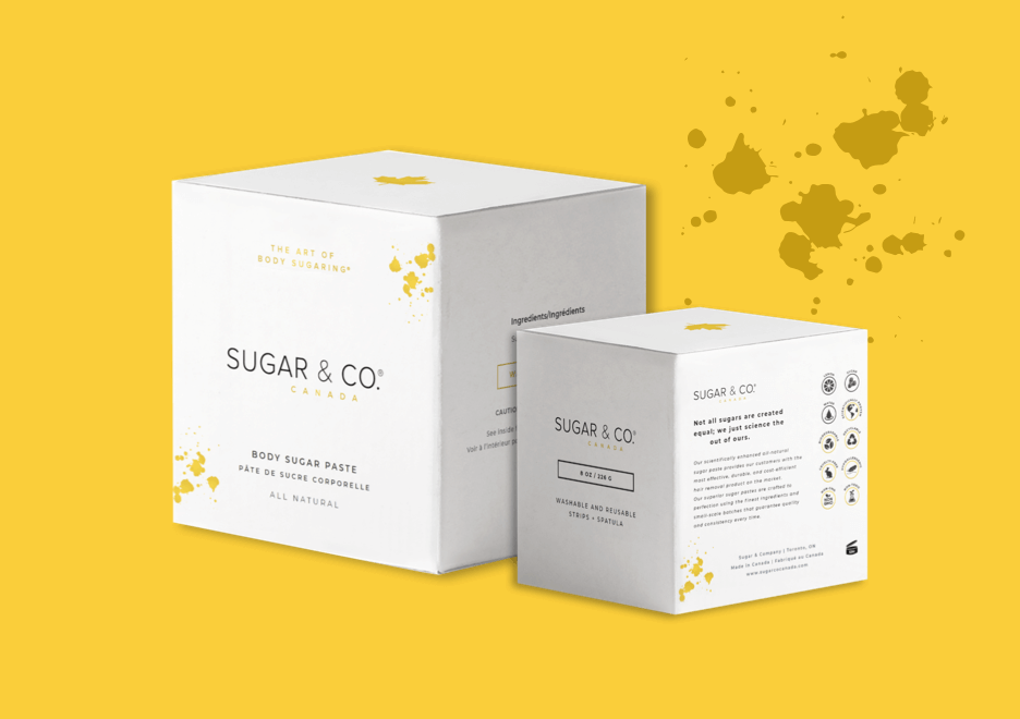 Sugar & Co Print and Packaging Design