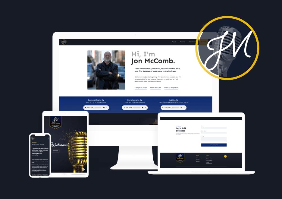 Jon McComb Voice Website