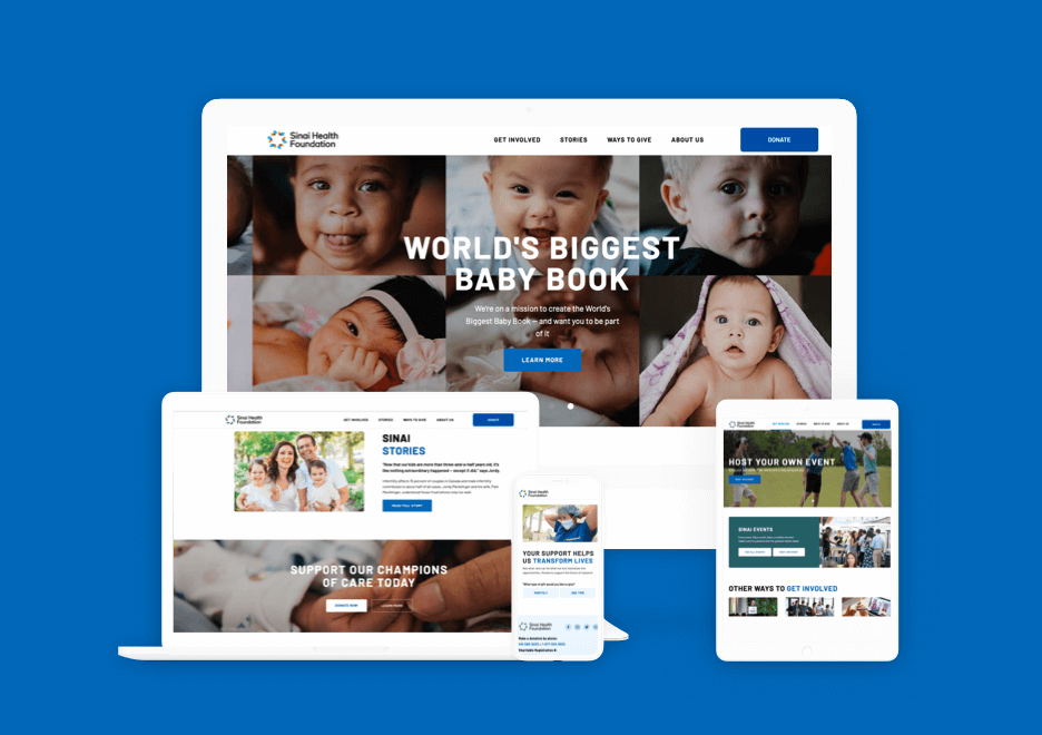 Sinai Health Foundation Website Rebrand