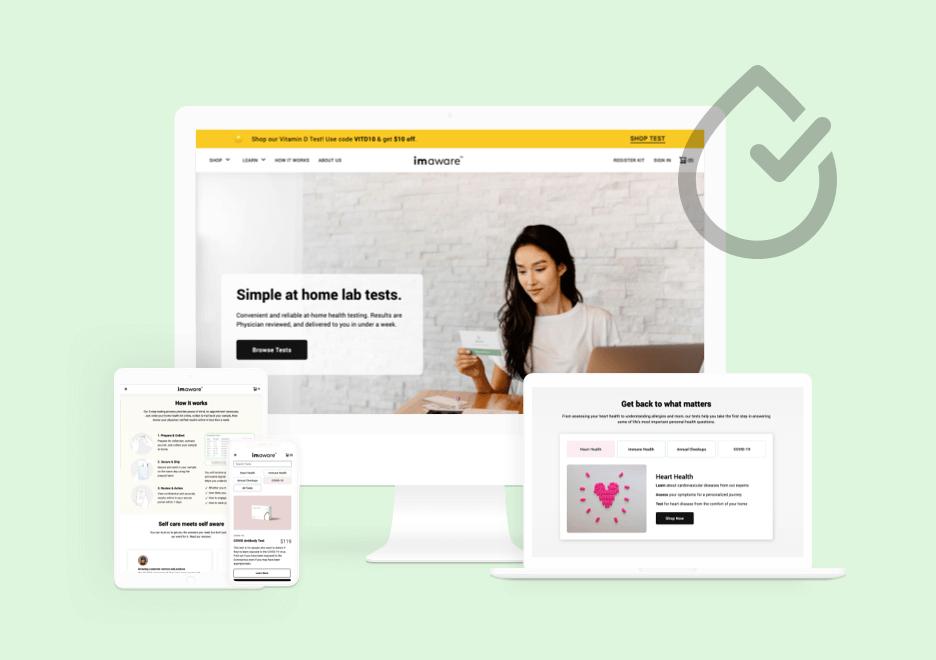 Imaware Health Site & Design