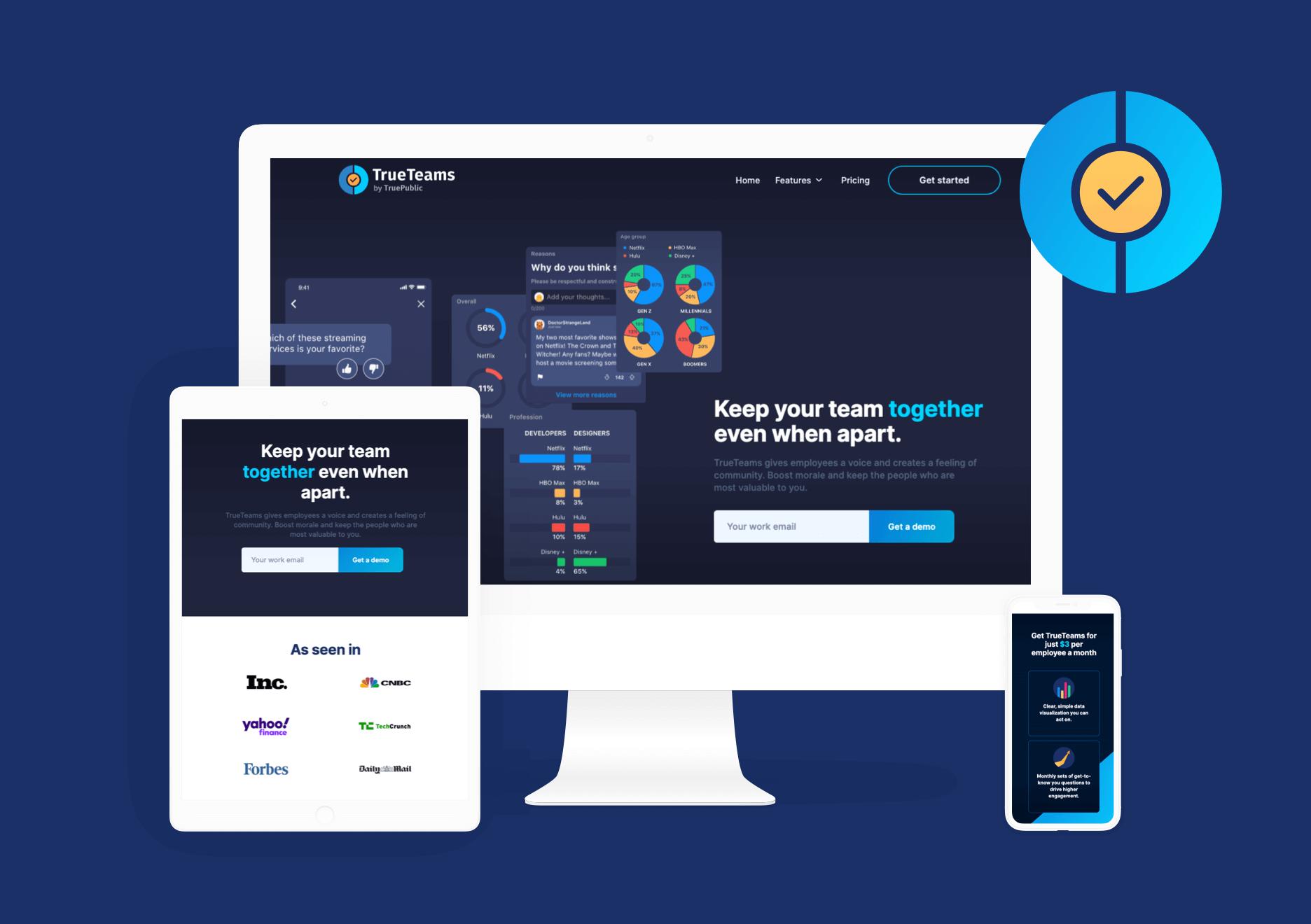 TrueTeams Website