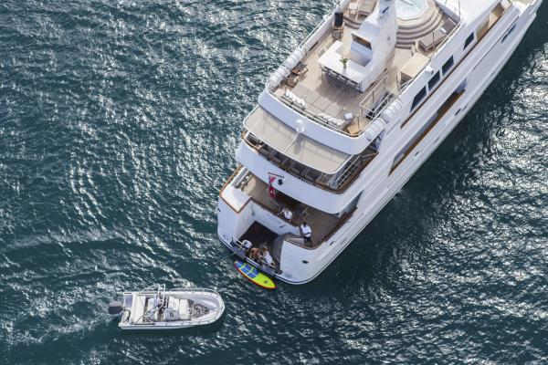 RELENTLESS yacht for charter spectating Americas cup