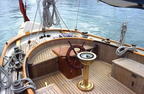 Classic Sailing Yacht Charter Cockpit2