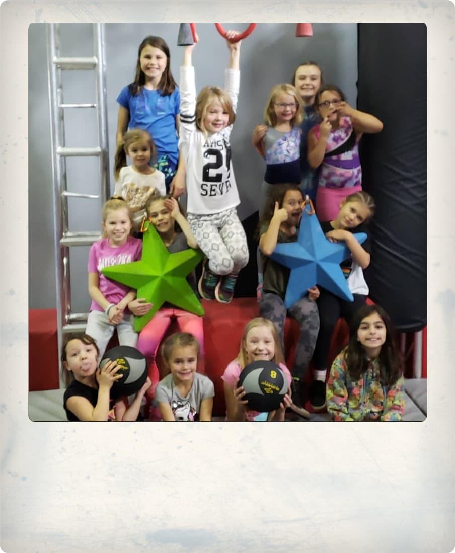 Kids having fun at Apex Warrior