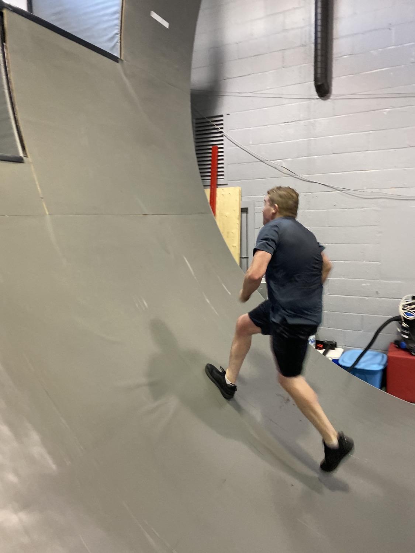 Running up the warp wall