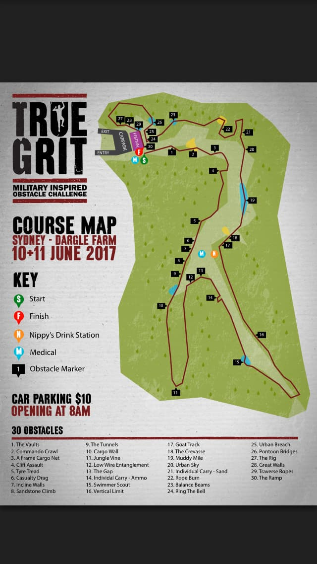 Map of 24-hour race course