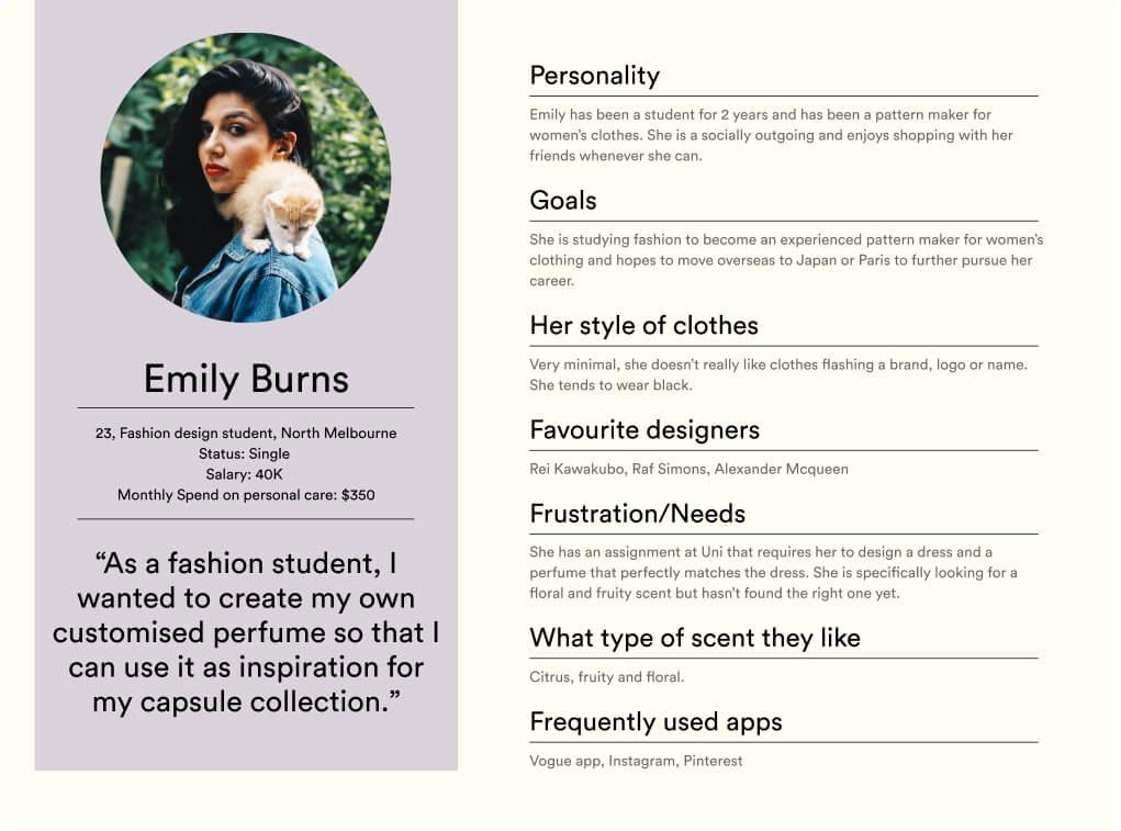User Persona Emily