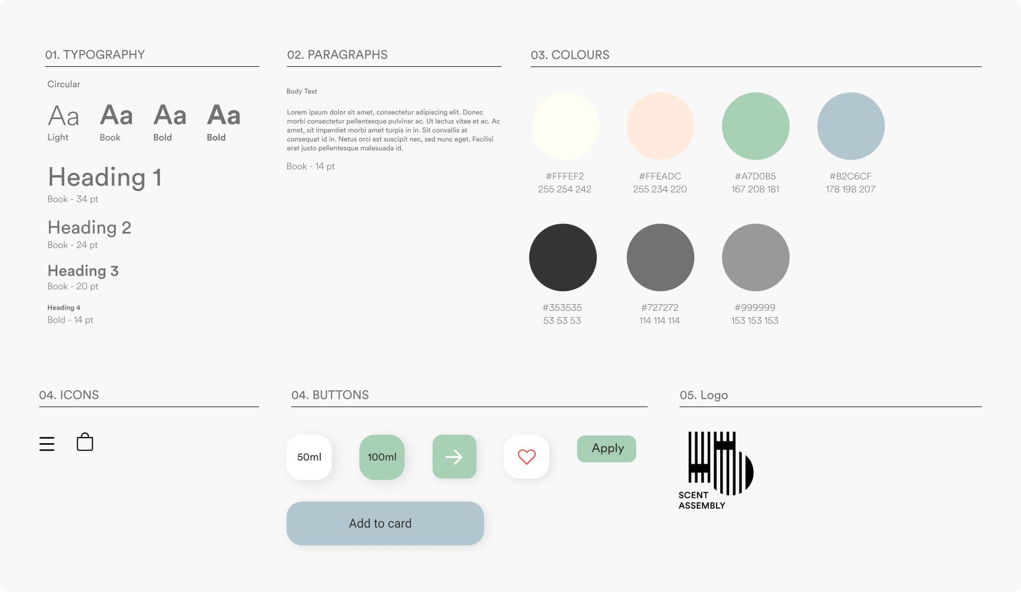 Scent Assembly Brand Style Guide